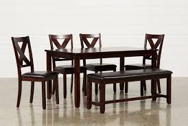 6 piece dining table and chairs dakota 6 piece dining set living spaces