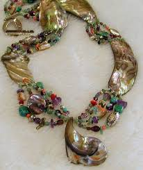 large red bead necklace images Large abalone charm abalone allure jewelry