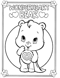 care bear rainbow coloring page at pages itgod me