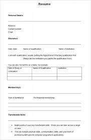 Resume Templates Office Blank Resume Templates Pdf Microsoft Office Resume Templates