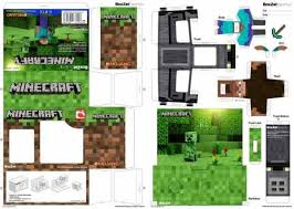 papermau minecraft steve paper toy in boxzet style by byman