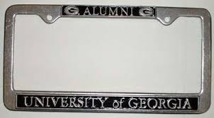 uga alumni car tag uga alumni pewter frame