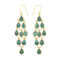 hook earrings tear drop chandelier hook earrings turquoise natalie b jewelry
