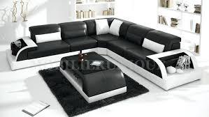 canapé d angle contemporain design canape noir et blanc design salon carrelage salle de bain moderne
