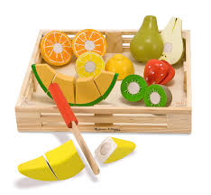 Toy Kitchen Set Food Buy Melissa And Doug Deluxe Wooden Cutting Fruit Crate Online At