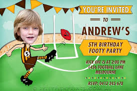 afl birthday invitations customise and print jellyfish prints