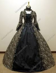 Ball Gown Halloween Costumes Renaissance Gothic Penny Dreadful Black Dress Ball Gown Witch