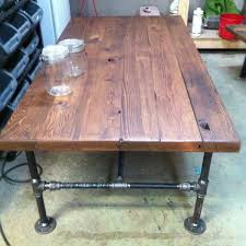Pipe Coffee Table by Custom Made Barn Wood Cast Iron Pipe Coffee Table By J U0026s Reclaimed