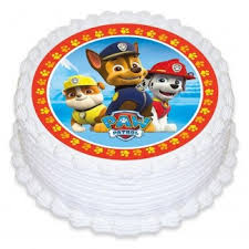 paw patrol edible icing cake decoration paw patrol party