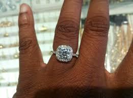 2 5 Cushion Cut Diamond Engagement Ring Show Me Engagement Rings On 5 5 Finger Weddingbee