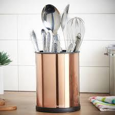 Kitchen Utensil Canister Vonshef Copper Rotating Kitchen Utensil Holder 18cm Stainless