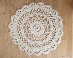 crochet love doily rug