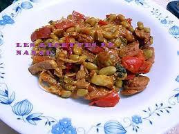 recette de mes flageolets épicés à la saucisse et aux légumes