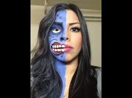 Eastbound Halloween Costumes Face Harvey Dent Makeup Tutorial Rubynicole85