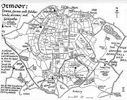 map ot map of otmoor before the rspb reserve was developed showing the