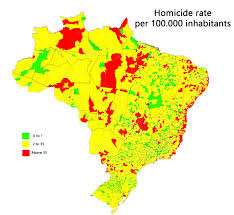 Map Of Brazil South America by Homicide Rate Per Municipality In Brazil Maps Pinterest
