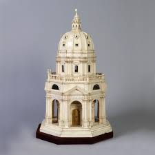 Architectural Pediment Design Baptistry Or Church Architectural Model 1782 Objects