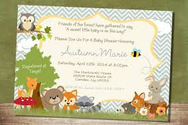 woodland creatures baby shower create easy woodland creatures baby shower invitations designs