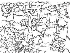 jungle scenery free coloring pages art coloring pages