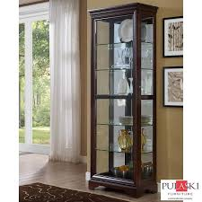 pulaski curio cabinet costco pulaski display cabinet with led light adjustable glass shelves