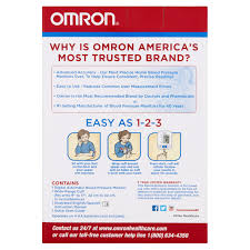 omron 3 series upper arm blood pressure monitor with cuff that