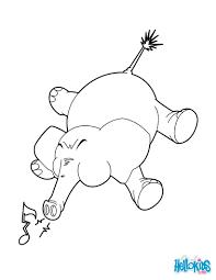 elephant trumpets coloring pages hellokids com