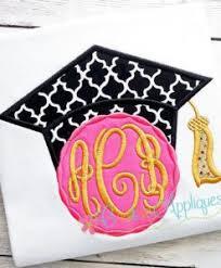monogram graduation cap monogram girl graduation cap applique creative appliques
