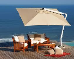 patio umbrella stand side table furniture cream square cantilever patio umbrella with white stand