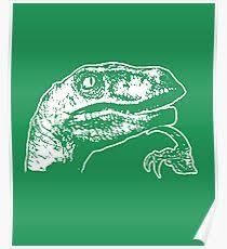 Velociraptor Meme - funny velociraptor meme posters redbubble