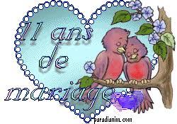 11 ans de mariage anniversaire mariage 11 ans de mariage