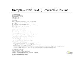 resume text format resume in text format exle plain text resume how to create a