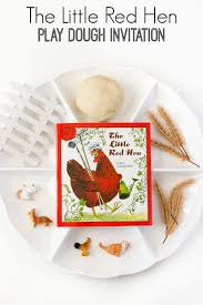little red hen play dough activity pre k pages