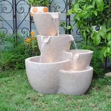 Outdoor Water Fountains With Lights Muiti Pots Sandstone Outdoor Indoor Water Fountain With Led Lights
