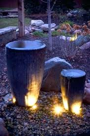 water fountain with lights pure garden fountains cascading bowls solar water fountain w led