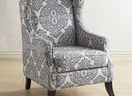 alec navy blue trellis wing chair stuning accent chairs pier one