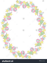 simple frame abstract christmas decorations vector stock vector