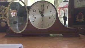 Mantle Clock Repair Vintage Linden Mantel Clock With Triple Chime Youtube