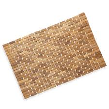 bathroom exciting bathroom decor ideas with cozy teak bath mat
