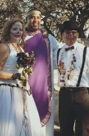 couple selects alhambra cemetery for halloween wedding