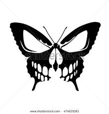 butterfly skull stock vector 474629161