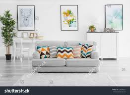 Living Room Grey Sofa by Modern Living Room Grey Couch Stock Photo 530248621 Shutterstock