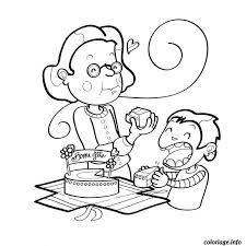 Coloriage bon anniversaire mamie  JeColoriecom