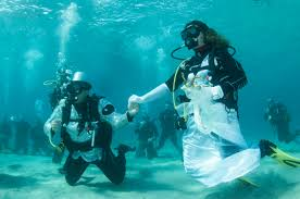 underwater wedding this italian had a magical underwater wedding the local