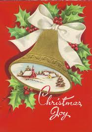 vintage card with bells carla at home