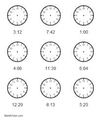 free telling time worksheets missing hands time clock