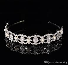 hair accessories melbourne luxury flower shaped bridal crown rhinestone tiaras women