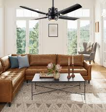 Ceiling Fan For Living Room peregrine industrial led ceiling fan led 4 blade ceiling fan