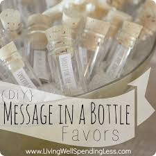 wedding souvenirs ideas diy message in a bottle party favors souvenir ideas gift ideas