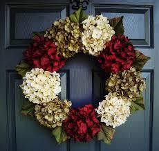 hydrangea wreath christmas hydrangea wreath wreaths wreath winter