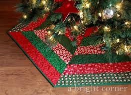 christmas tree skirts a bright corner quilted christmas tree skirts